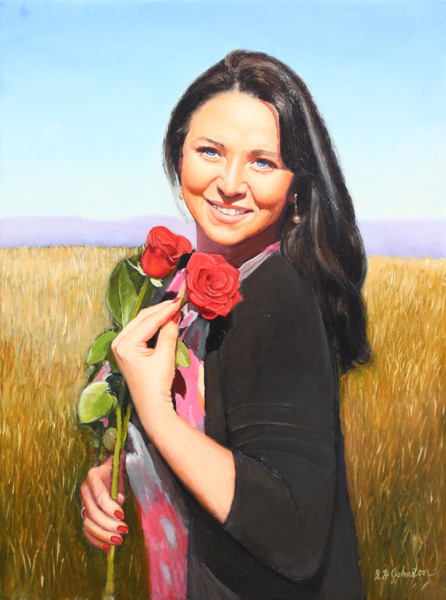 Brygida With Roses
